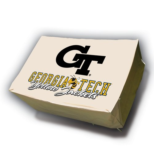 NCAA Mr. Bar-B-Q Rectangle Table Cover, Georgia Tech University Yellow Jackets