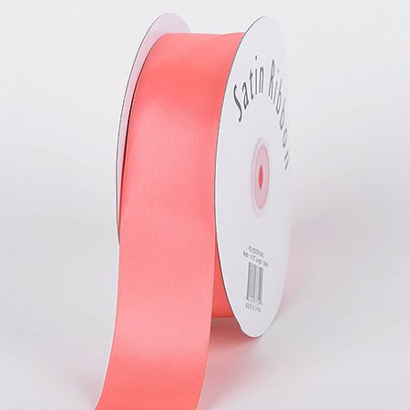 BBCrafts 3/8 inch x 100 Yards Single Face Satin Ribbon Decoration Wedding Party (Coral), Ship in 1 Business Day. By Generic