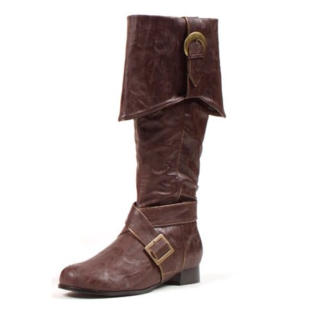 Mens Knee High Pirate Boots Brown Halloween - Mens Brown Pirate Boots