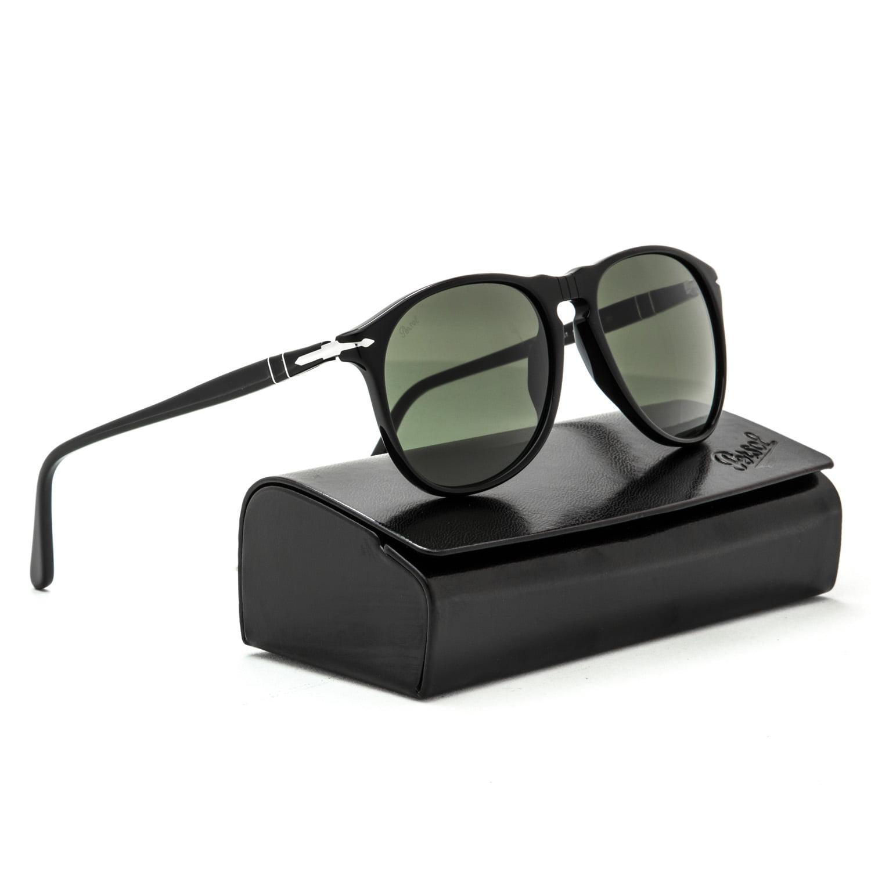 be1e64fe72 Persol - PERSOL Sunglasses PO9649S 95 31 Black 52MM - Walmart.com