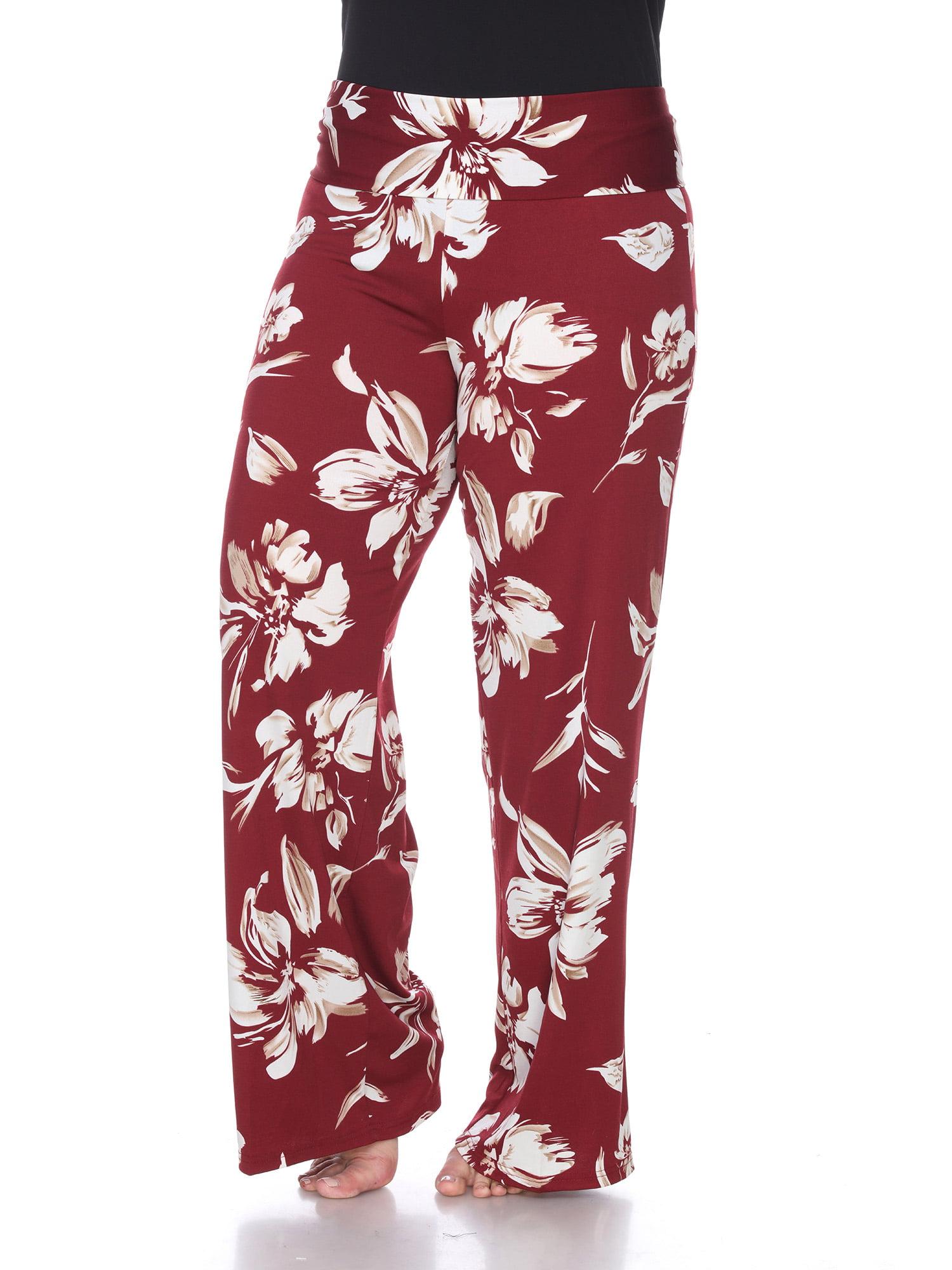 Women's Plus Size Hawaiian Flower Palazzo Pants