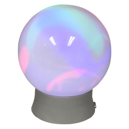 Battery-Operated Flashing Rainbow Ball Light, Height: 7.08""
