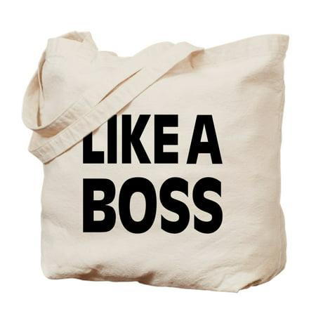 CafePress - LIKE A BOSS: - Natural Canvas Tote Bag, Cloth Shopping Bag