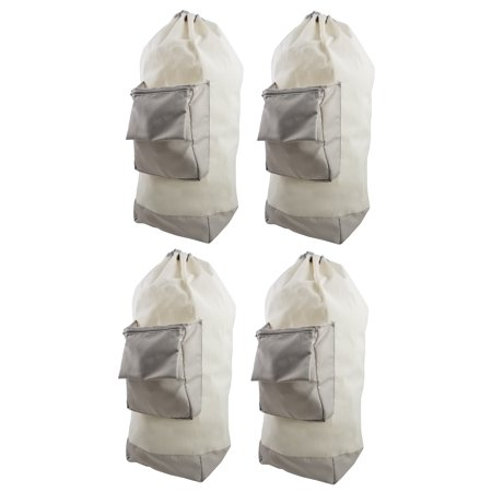 Mainstays Heavy Duty Canvas Laundry Duffel Bag - 4 Pack - Canvas Laundry Tote