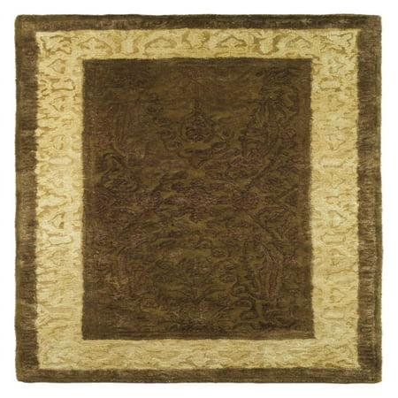 Fine Silk Rug - Safavieh Silk Road SKR211A Area Rug - Chocolate/Light Gold