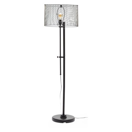 MoDRN Industrial Adjustable Height Mesh Floor Lamp