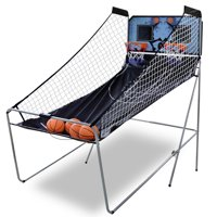Zeny Foldable Indoor Basketball Arcade Game Double Shot 2 Player W/ 4 Balls, Electronic Scoreboard and Inflation Pump