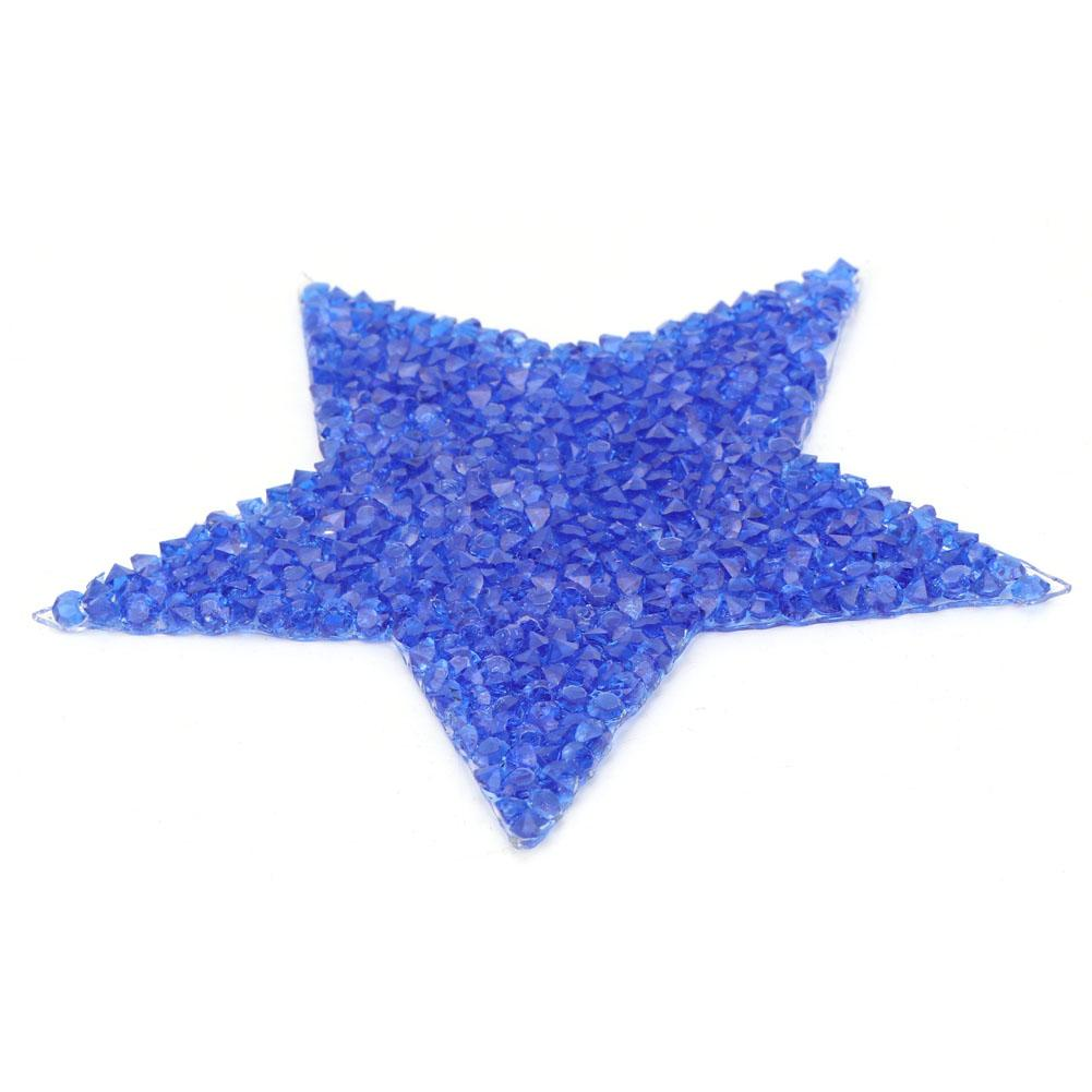 AB Color 10pcs Rhinestone Star Applique Clothes Patch for Dress Shoes Bag Hat