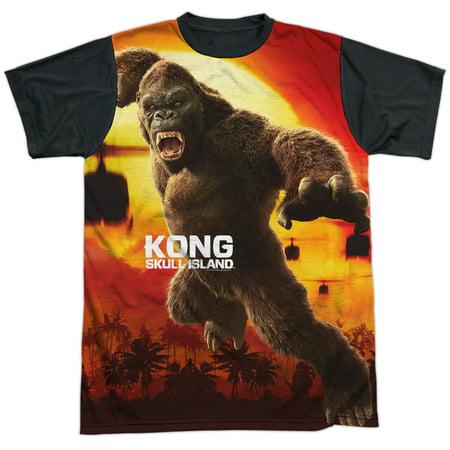Kong Skull Island Kong Attacks Mens Sublimation Shirt With Black Back