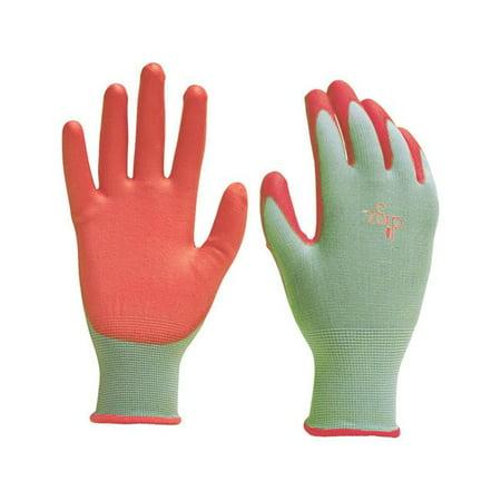 Image of Womens Polyurethane Gardening Gloves - Green Medium