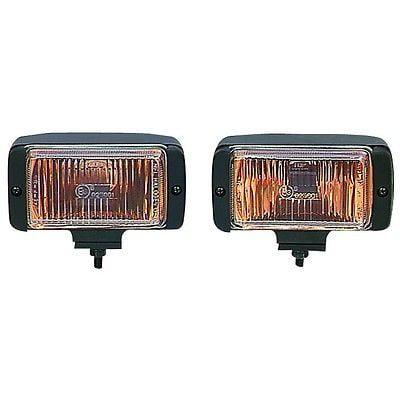 12 Volt Amber Fog Light Halogen Lamp System for Off Auto Road Snow Wet (Best Lights For Snow Driving)