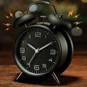 Vintage Extra Loud Alarm Clock Twin Bell Battery Analogy Backlight Bedroom Hoom Office Black