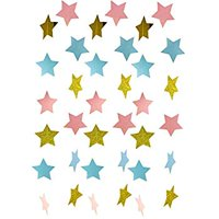 Gender Reveal Party Decorations 2pcs Twinkle, Twinkle Pink Blue Gold Paper Star Garland Star String for Baby Shower Decorations Birthday Decor/Boy or Girl Gender Reveal Party Supplies