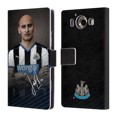 OFFICIAL NEWCASTLE UNITED FC NUFC 2015/16 1ST TEAM LEATHER BOOK WALLET CASE COVER FOR MICROSOFT NOKIA PHONES