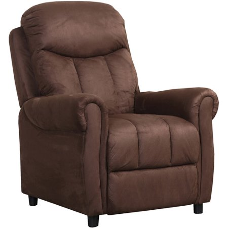 abbyson living brooklyn microsuede fabric pushback recliner dark