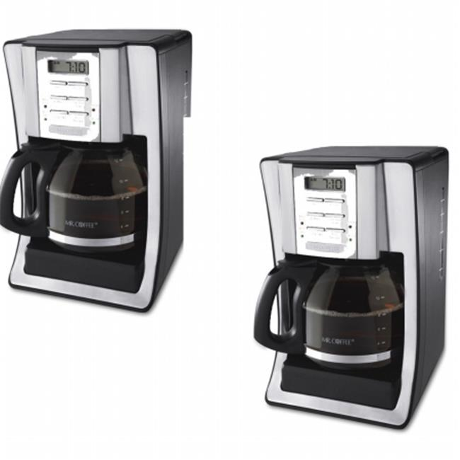 Classic Coffee Concepts BVMCSJX39 12-Cup Programmable Coffeemaker, Black & Brushed Silver