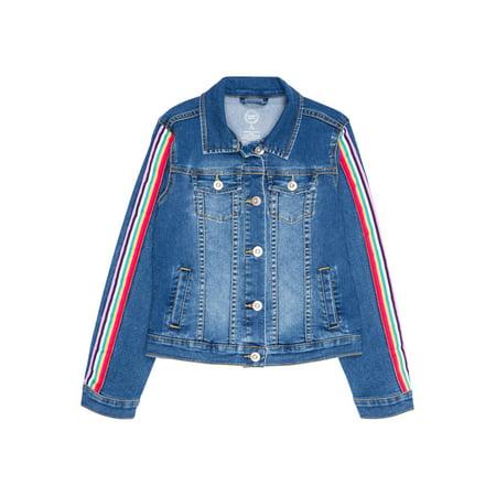 Girl Denim Jacket (Wonder Nation Embellished Denim Jacket (Little Girls, Big Girls &)