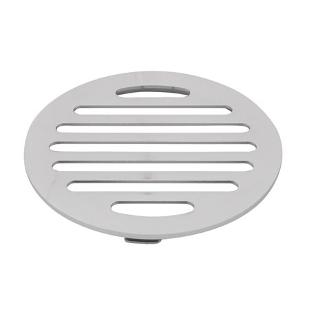 Household Round Water Hair Filter Shower Floor Drain Cover Lid Silver Tone - image 1 of 1