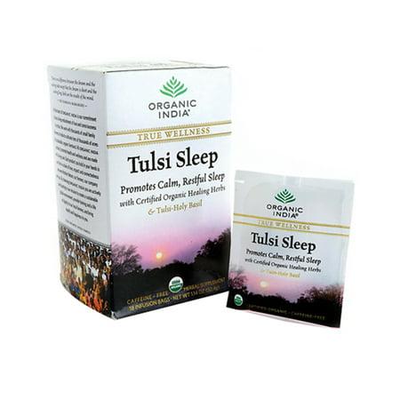 Organic India Herbal Supplement Tulsi Sleep Tea Bags For True Wellness - 18