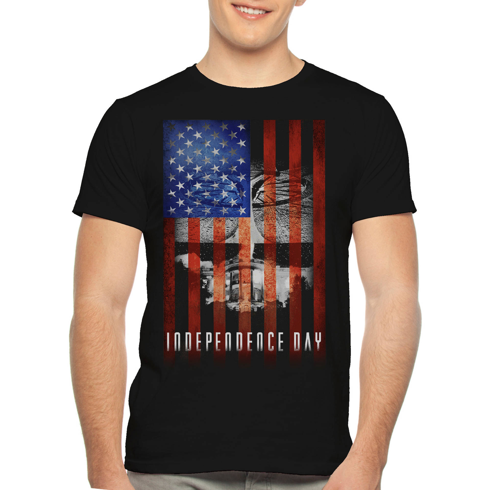 Independence Day Movie Big Men's Graphic Tee