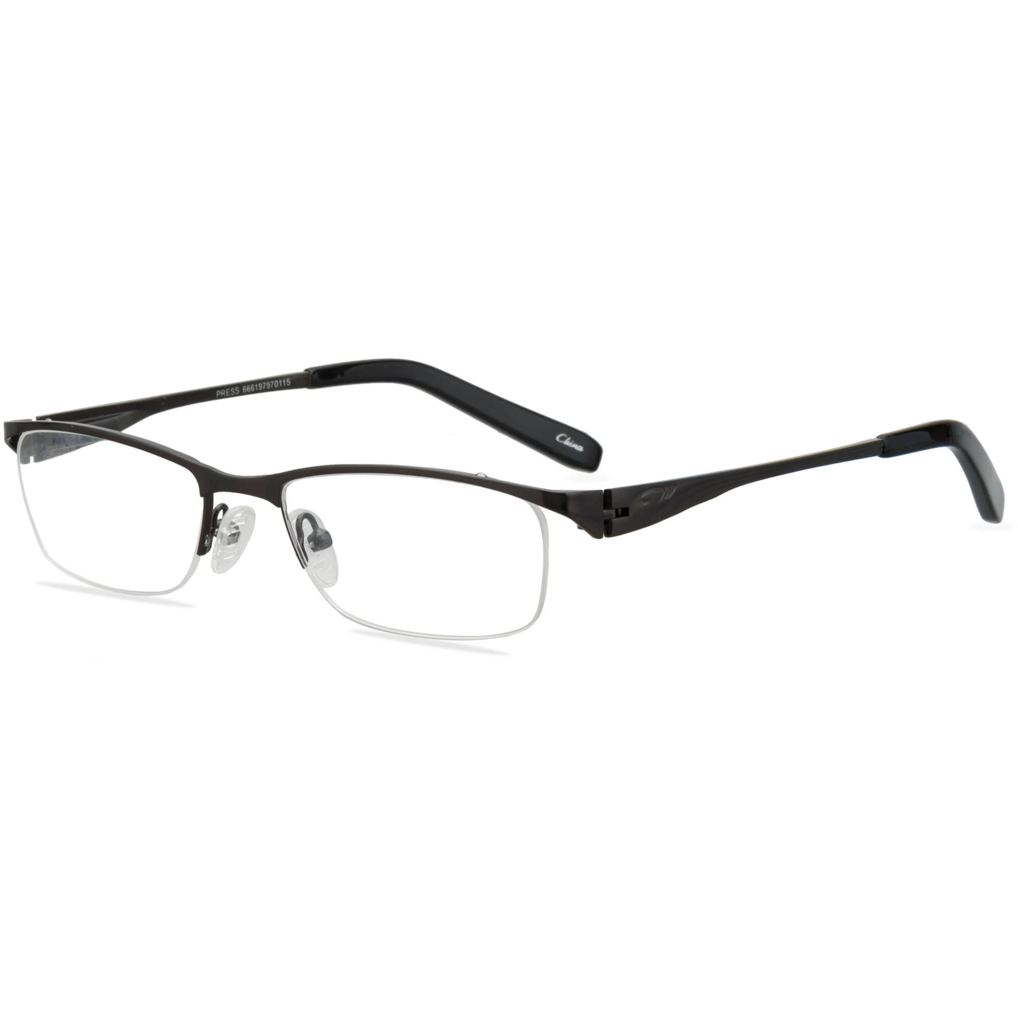 OCTO180 Mens Prescription Glasses, Press Dk. Mgun/Blk - Walmart.com | Tuggl