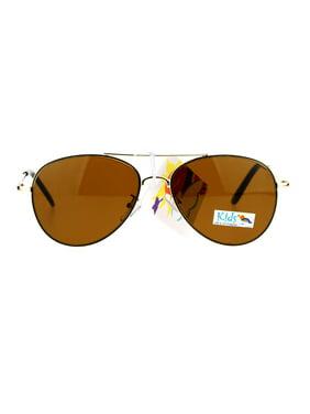c4475bd45c152 Product Image SA106 Boys Childern Size Fashion Metal Aviator Sunglasses Gold  Brown