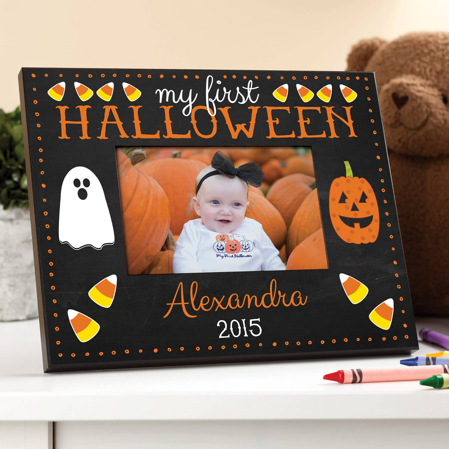 My First Halloween Personalized Frame