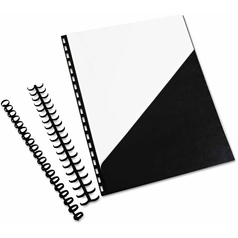 "Swingline GBC ZipBind Prepunched Pocket Folder, 8-1/2"" x 11"", Black, 10 Folders per Pack"