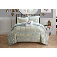 Latitude Camelia Metallic Arrows Bed in a Bag Bedding Set