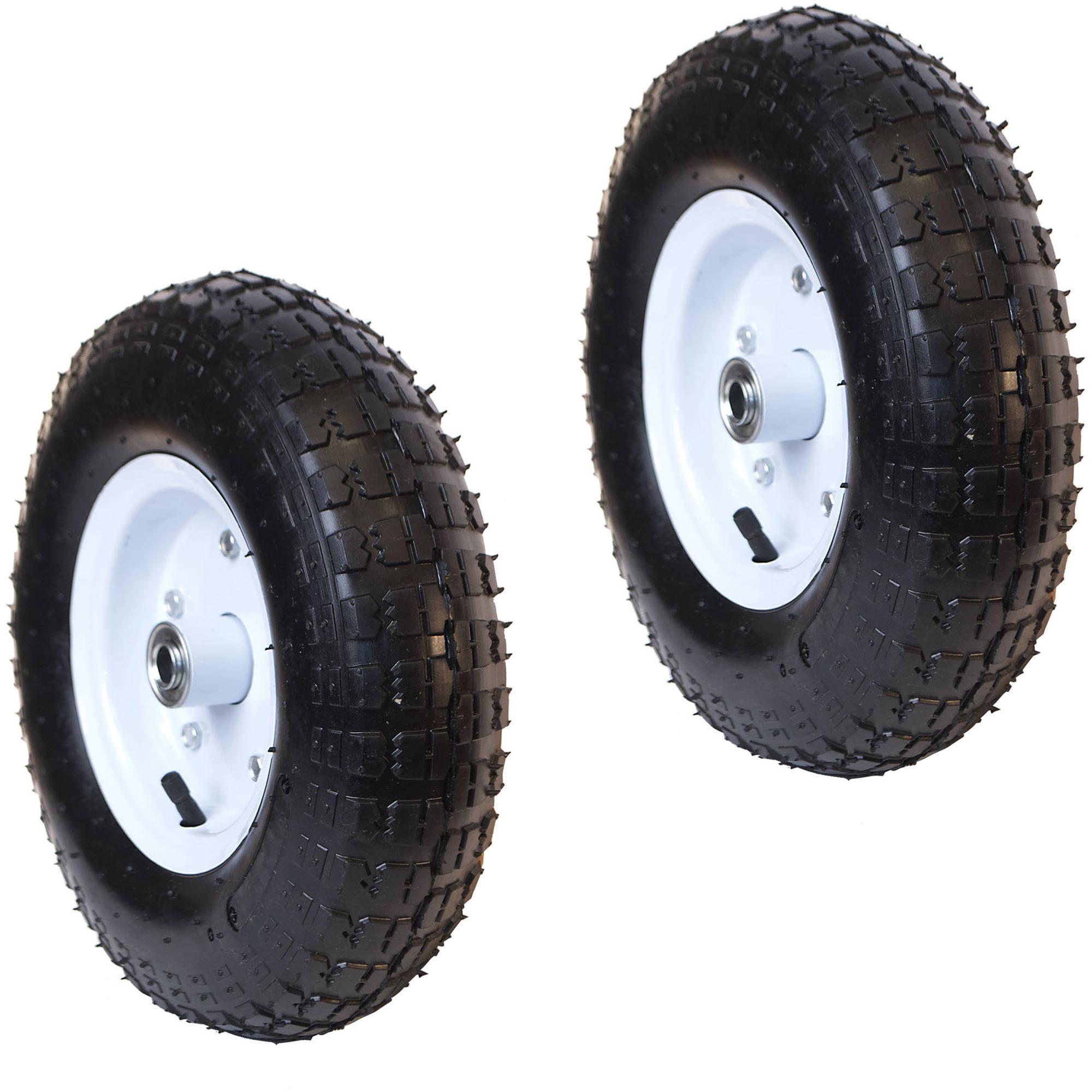 ALEKO 2WBAP13 Turf Pneumatic Replacement Welded Rim Wheel for Wheelbarrow 13 Inch Air... by ALEKO