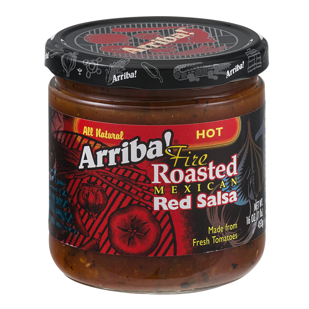 Arriba! Fire Roasted Mexican Red Salsa Hot, 16.0 OZ