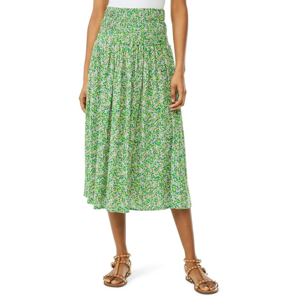 Scoop Women's Smocked Midi Skirt