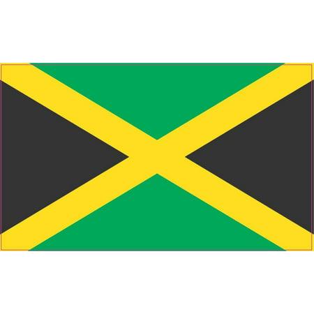 5x3 jamaica jamaican flag bumper sticker decal vinyl car window stickers decals