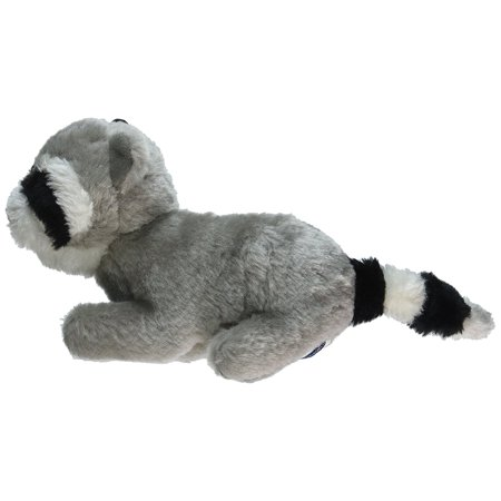 Copa Judaica Chewish Treat Ganef Racoon Squeaker Plush Dog Toy, 8 by 3 by 5-Inch, Multicolor