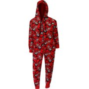 betty boop red plush onesie hoodie pajama