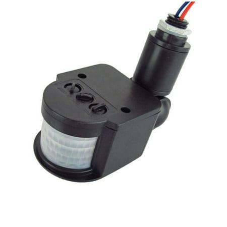 Outdoor Pir Motion Detector - LED Outdoor 85-265V Infrared PIR Motion Sensor Detector Wall Light Switch black