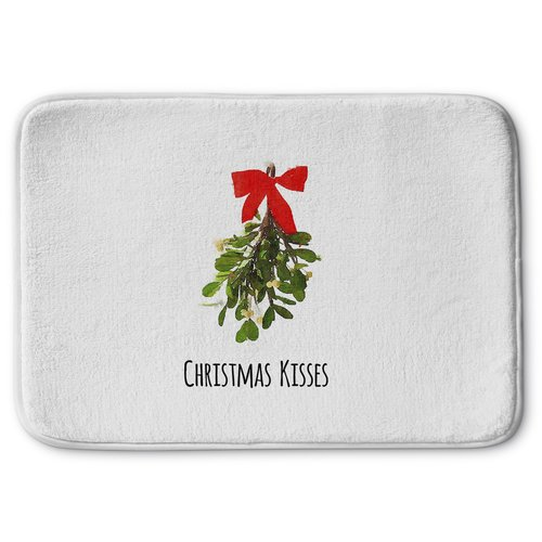 KAVKA DESIGNS Christmas Kisses Memory Foam Bath Rug