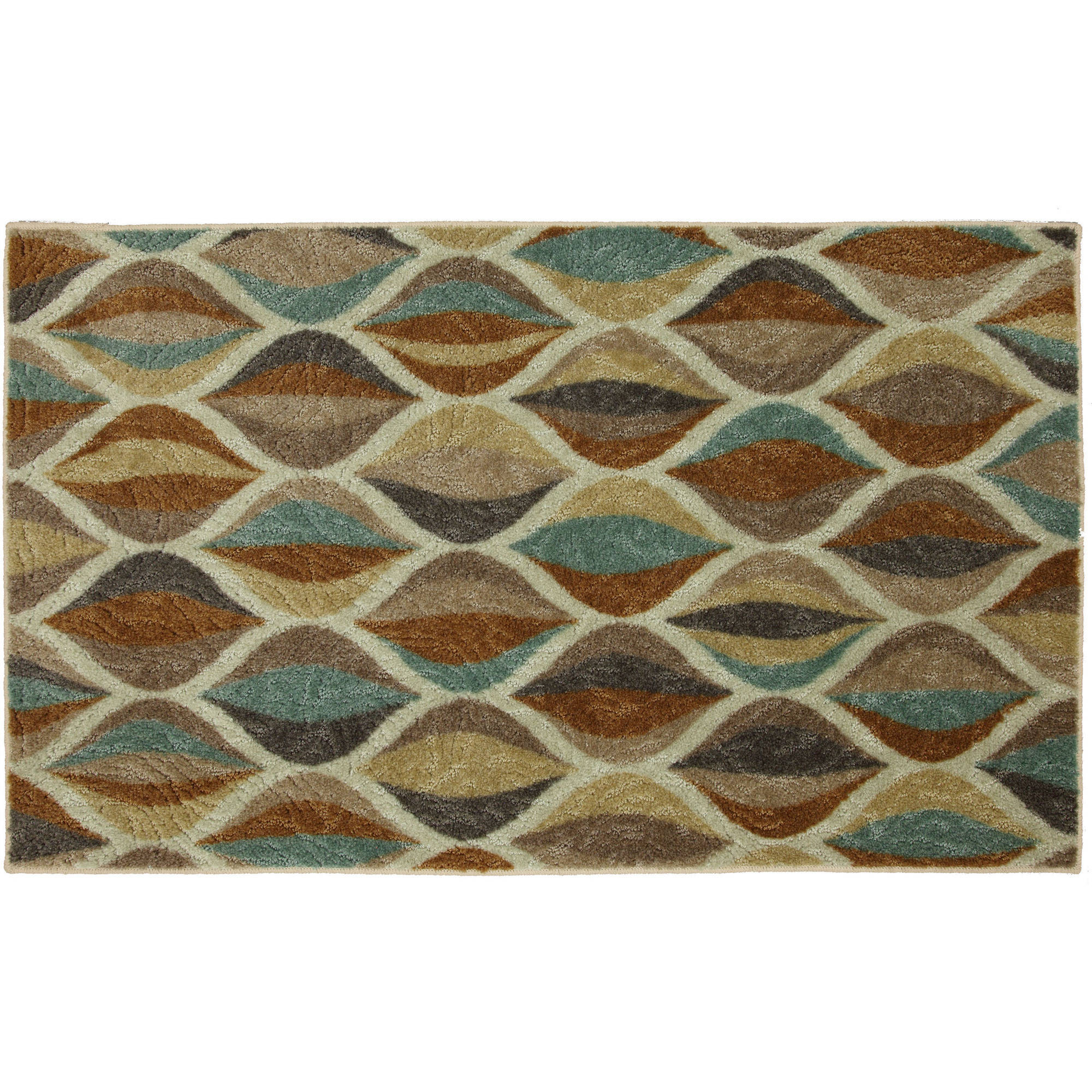Mohawk Home Ornamental Ogee Nylon Scatter Rug with Memory Foam Backing, 3' x 4'