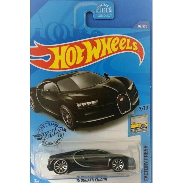 Bugatti 2020 Christmas Ornament Hot Wheels '16 Bugatti Chiron 89/250 black 2020 7/10 Factory Fresh