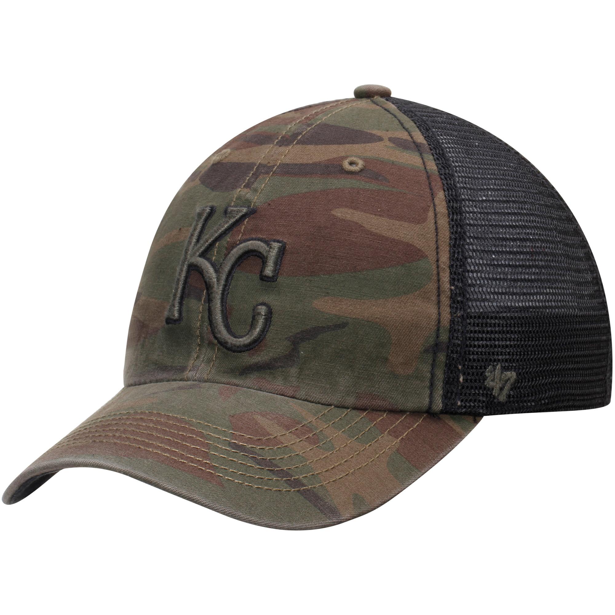 Kansas City Royals '47 Beaufort Closer Flex Hat - Camo/Black - OSFA