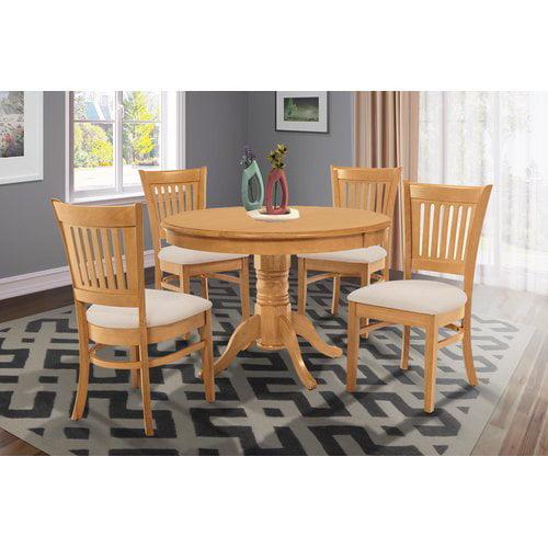 Alcott Hill Cedarville Elegant 5 Piece Solid Wood Dining Set
