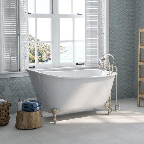Cambridge Plumbing 58'' x 30'' Clawfoot Bathtub