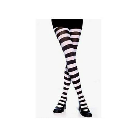 Wide Striped Tights 7110 Leg Avenue Black/White