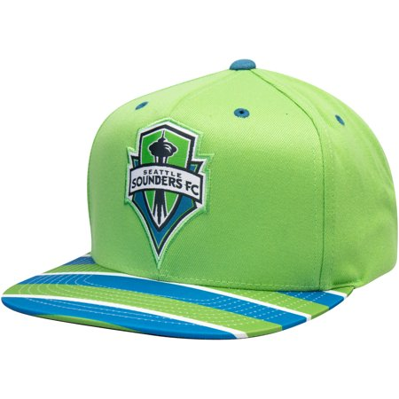 Seattle Sounders FC Mitchell & Ness Diamond Adjustable Snapback Hat - Rave Green - OSFA (Mitchell Ness Diamond)