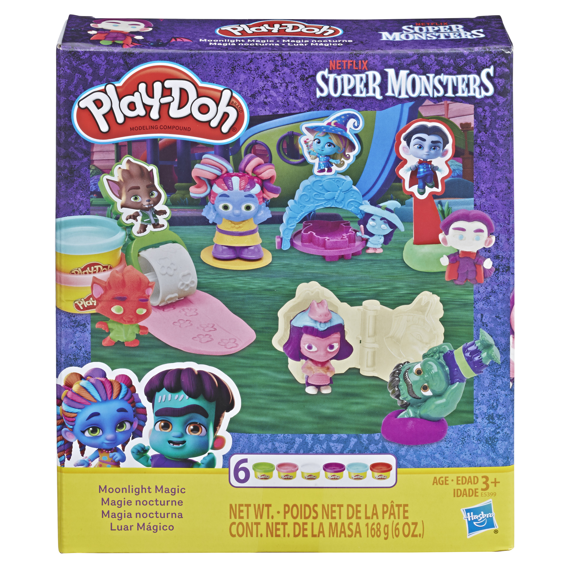 Super Monsters Moonlight Magic Play-Doh Tool Set, 6 cans of Play-Doh