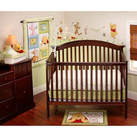 Disney Pooh Sunny Day 3 Piece Crib Bedding Set Walmart Com