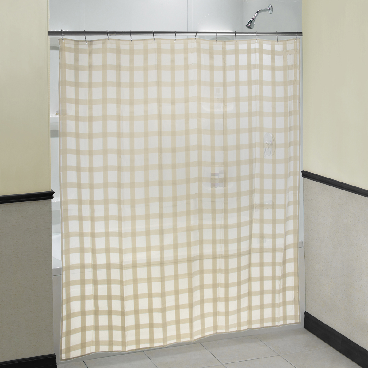 """Fabric Shower Curtain 70""""x71"""" Woven Polyester Excell By Appointment Melanie"""