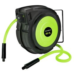 "Flexzilla L8250FZ Enclosed Plastic Retractable Reel with 3/8"" X 50"