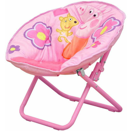 Peppa pig collapsible saucer chair pink for Toddler mini chair