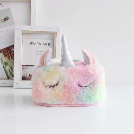 KABOER Unicorn Plush Home Car With Cartoon Tray - Tissue Box Napkin Rack Polishing Tray Home Decoration Suitable For Travel Car Home Sofa Office Coffee Table (Coffee Tray Container)